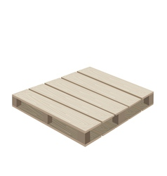 A Wood Pallet on A White Background vector image