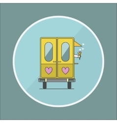 ice cream truck vector image vector image