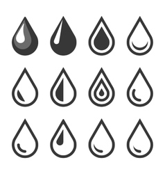 Oil Or Water Drop Emblem Logo Template Icon Set vector image