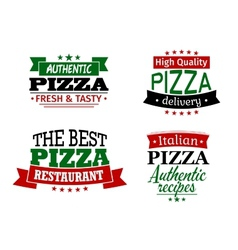 Pizza labels and banners set vector image