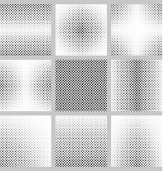 Set of monochrome dot pattern backgrounds vector
