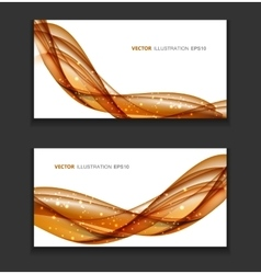Abstract Colored Wave Card Background vector image