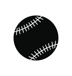 Baseball black simple icon vector image
