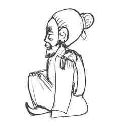 chinese wiseman symbol taoism vector image vector image