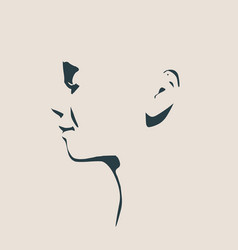 head silhouette face side view vector image vector image