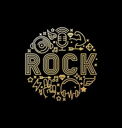 rock music concept vector image vector image