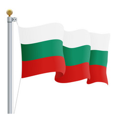 waving bulgaria flag isolated on a white vector image