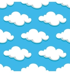 White clouds and sky seamless pattern vector image vector image