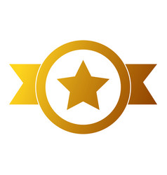 winner medal with star vector image vector image