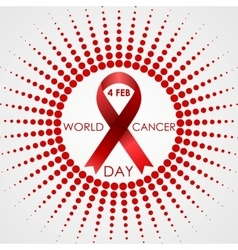 World Cancer Day background with halftone vector image vector image