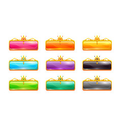 decorative colorful long buttons set vector image vector image