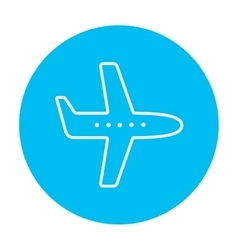 Flying airplane line icon vector image vector image