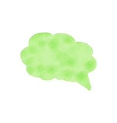 Watercolor speech bubble Hand drawn vector image