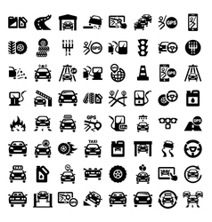 big auto icons set vector image vector image