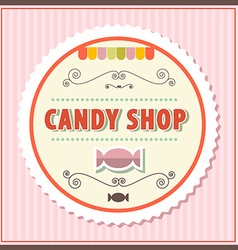 Candy Shop Retro on Vintage Pink Background vector image vector image
