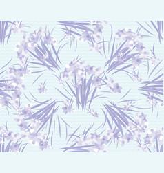 Floral lavender retro vintage background vector