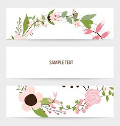 Flower background brochure template Set of floral vector image