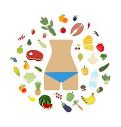 health food beautiful body vector image