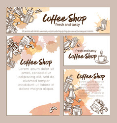 Identity template coffee page vector