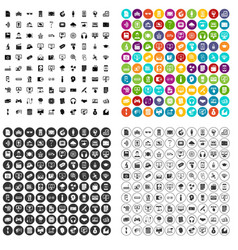 100 website icons set variant vector image