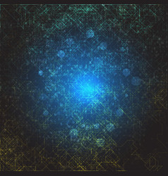 abstract digital space cyber space vector image
