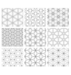 abstract seamless white textures collection vector image