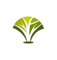 abstract tree icon concept logo green vector image