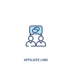 Affiliate link concept 2 colored icon simple line vector