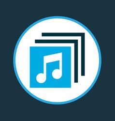 Albums icon colored symbol premium quality vector
