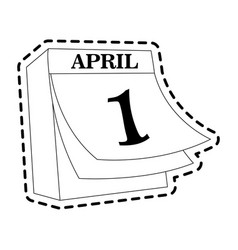 April 1 icon image vector