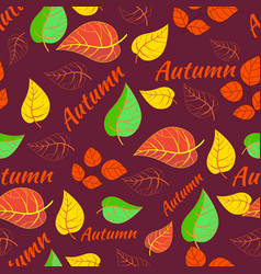 autumn pattern seamless background vector image
