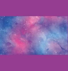 Background stellar sky in watercolor vector