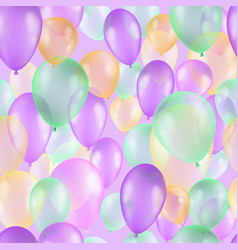 Balloons seamless pattern background beautiful vector