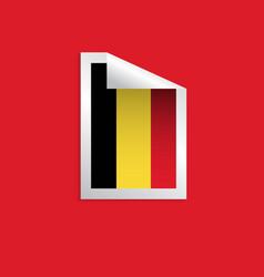 Belgium label flags template design vector