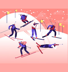 biathlon tournament world cup competition male vector image
