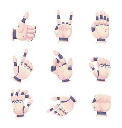 Bionic human hands robots gestures helping vector