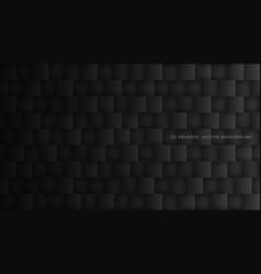 black 3d square blocks pattern technology dark vector image