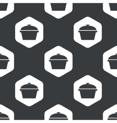 Black hexagon pot pattern vector
