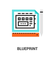 Blueprint icon concept vector