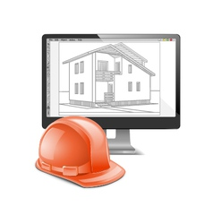 Building Computer Design vector image