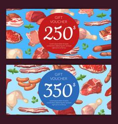 cartoon meat elements discount vector image