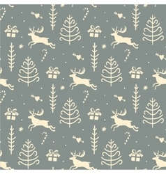 Christmas background seamless tiling pattern vector image