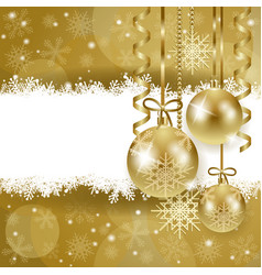 christmas background with copy space in gold vector image
