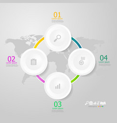 circle infographics elements layout 4 steps for vector image