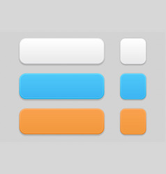 Colored matted interface buttons vector
