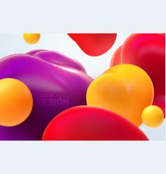 colorful flowing bubbles 3d vector image