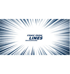 Comic zoom motion lines background vector