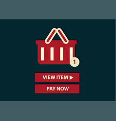Concept of online shopping add to basket web vector