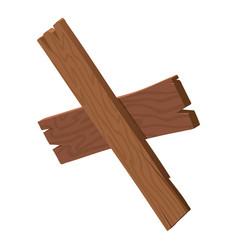 Crossing plank icon isometric style vector