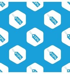 Discount hexagon pattern vector image